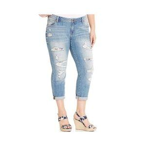 Lucky Brand  Plus Size 22W Ripped Boyfriend Jeans